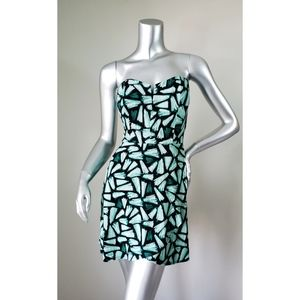 Candies Black & Green Strapless Dress